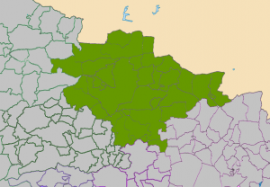 Cullompton and Tiverton Deaneries Map
